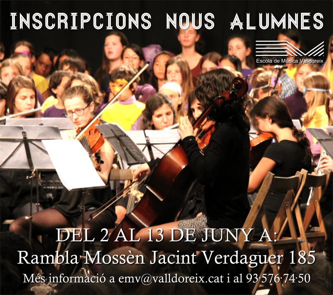 L'escola de Música de Valldoreix obre el període d'inscripcions per a nous alumnes.